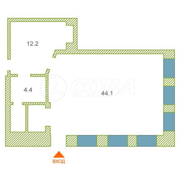 Нежилое помещение в отдельно стоящем здании, аренда, в 3 микрорайоне, г. Тюмень