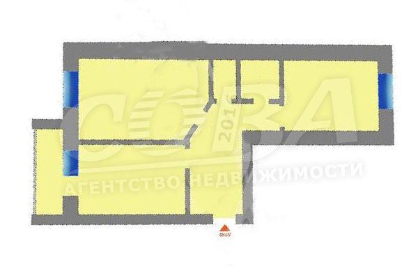 2 комнатная квартира  в районе МЖК, ул. Широтная, 158, Жилой комплекс «Восточная широта», г. Тюмень