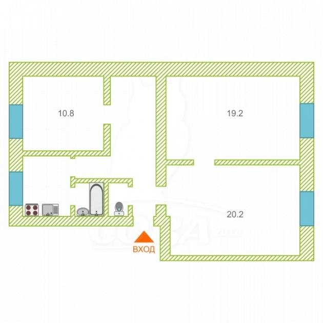 3 комнатная квартира  в центре Тюмени, ул. Водопроводная, 36, г. Тюмень
