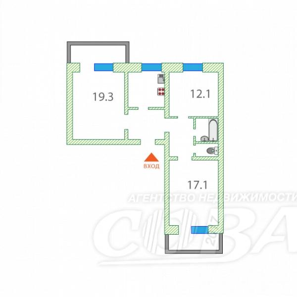 3 комнатная квартира  в районе Дома печати, ул. Максима Горького, 23, г. Тюмень