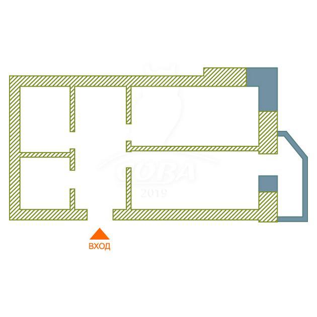 1 комнатная квартира  в центре Тюмени, ул. Миусская, 8, г. Тюмень