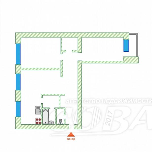 3 комнатная квартира  в центре Тюмени, ул. Республики, 39, г. Тюмень
