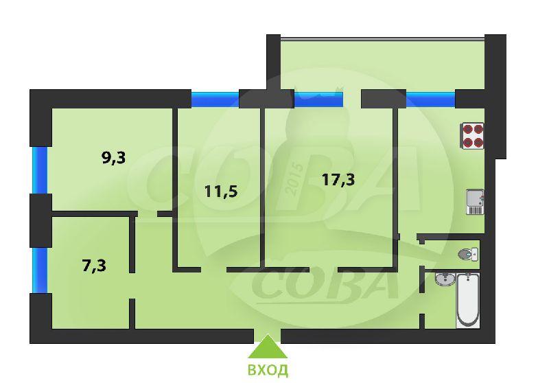 4 комнатная квартира  в Южном микрорайоне, ул. Червишевский тракт, 31, г. Тюмень