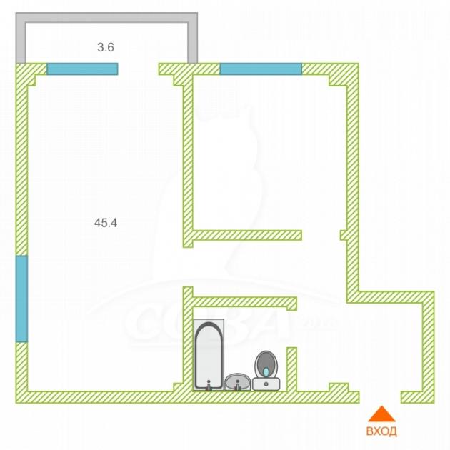 2 комнатная квартира  в районе Новый Сочи, ул. Цюрупы, 34, г. Сочи