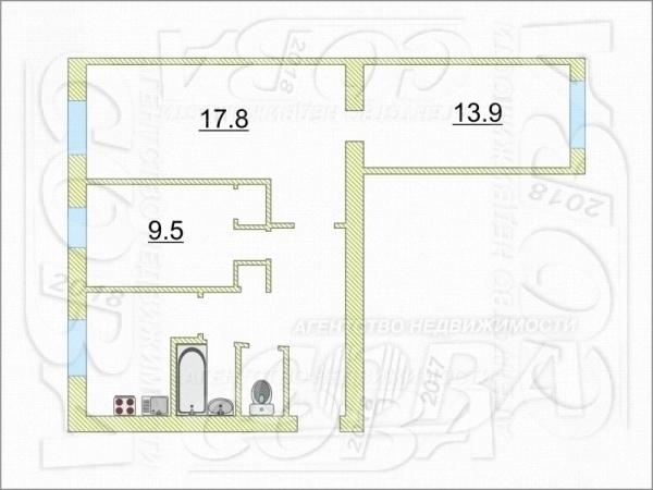 3 комнатная квартира  в районе Маяк, ул. Парковая, 2А, г. Тюмень