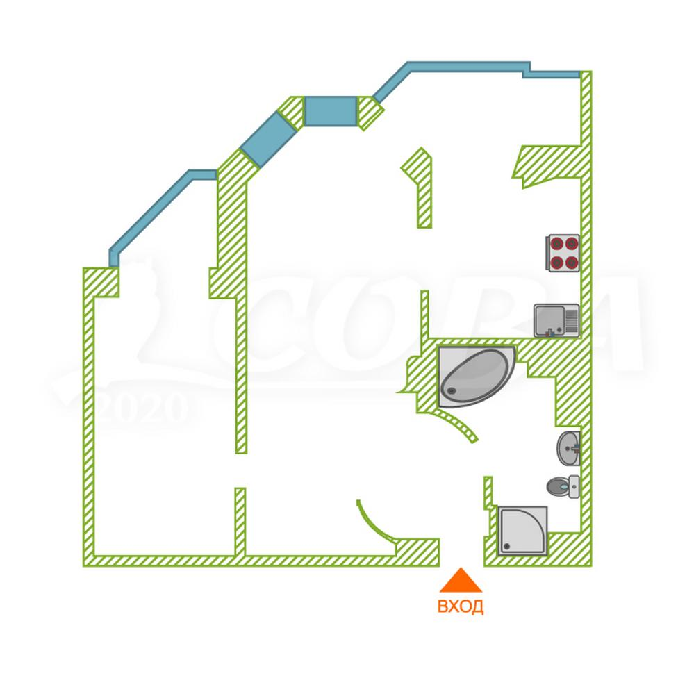2 комнатная квартира  в районе Университет, ул. Университетская, 3, г. Сургут