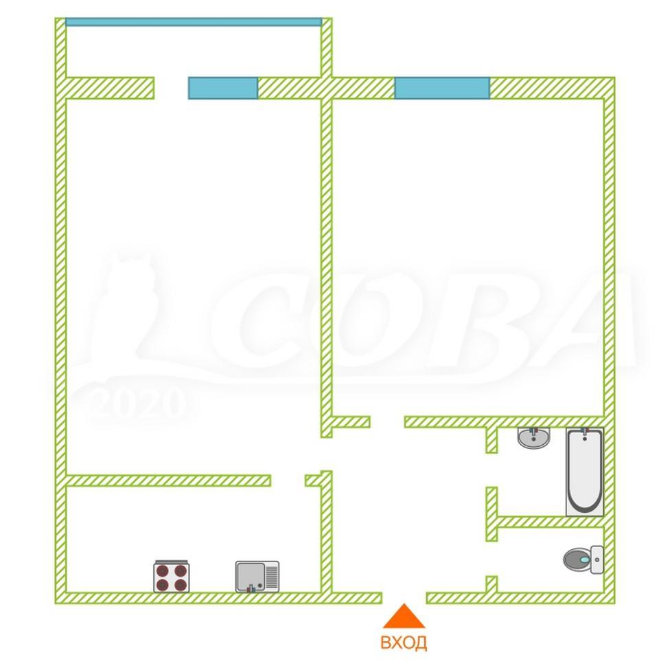 2 комнатная квартира  в районе ТРЦ Аура, ул. Есенина, 6, ЖК