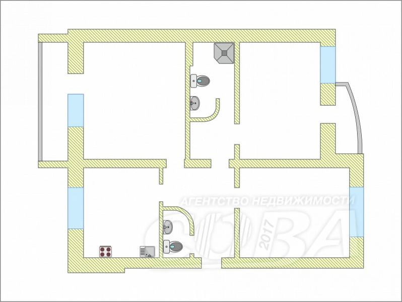 3 комнатная квартира  в Восточном мкрн., ул. Широтная, 129/3, г. Тюмень