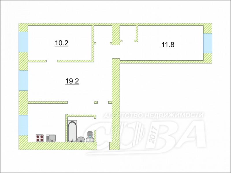 3 комнатная квартира  в районе Червишевского тр., ул. Червишевский тракт, 78, г. Тюмень