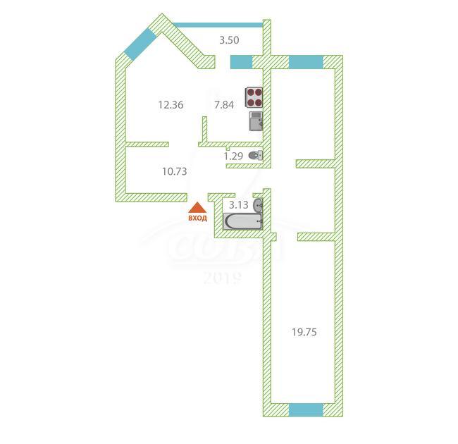 3 комнатная квартира  в районе Войновка, ул. Широтная, 217, Жилой комплекс «Квартет», г. Тюмень