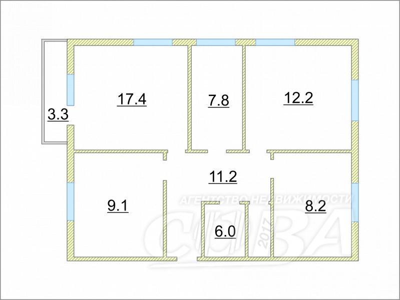4 комнатная квартира , ул. 8 Марта, 30А, п. Луговской