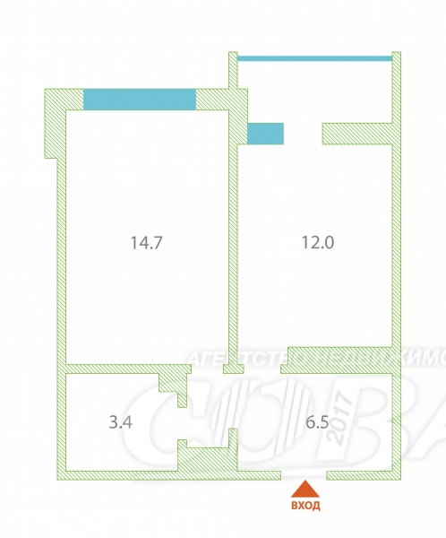 1 комнатная квартира  в районе устаревшее значение, ул. Николая Федорова, 17, ЖК «Семейный», г. Тюмень