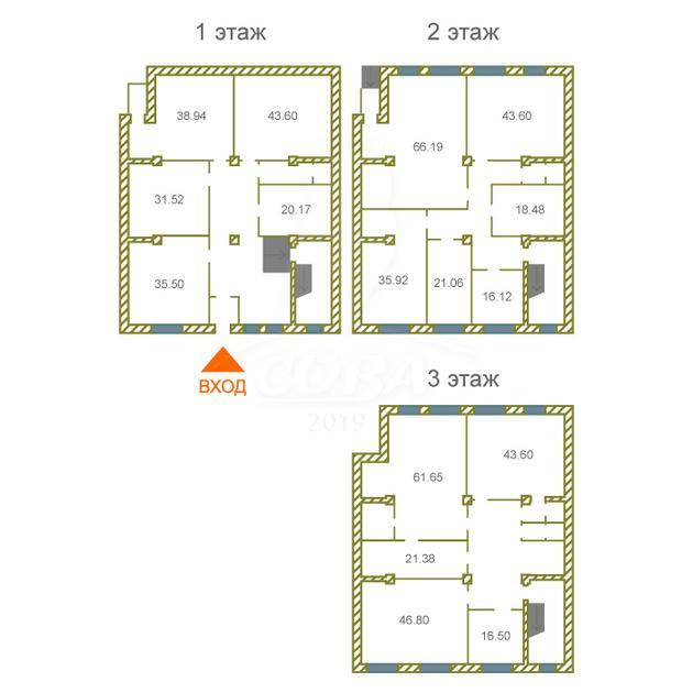 Офисное помещение в отдельно стоящем здании, продажа, в Заречном 2 мкрн., г. Тюмень