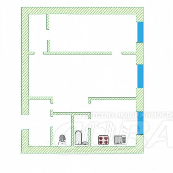 2 комнатная квартира  в районе Дом Обороны, ул. Ямская, 114, г. Тюмень
