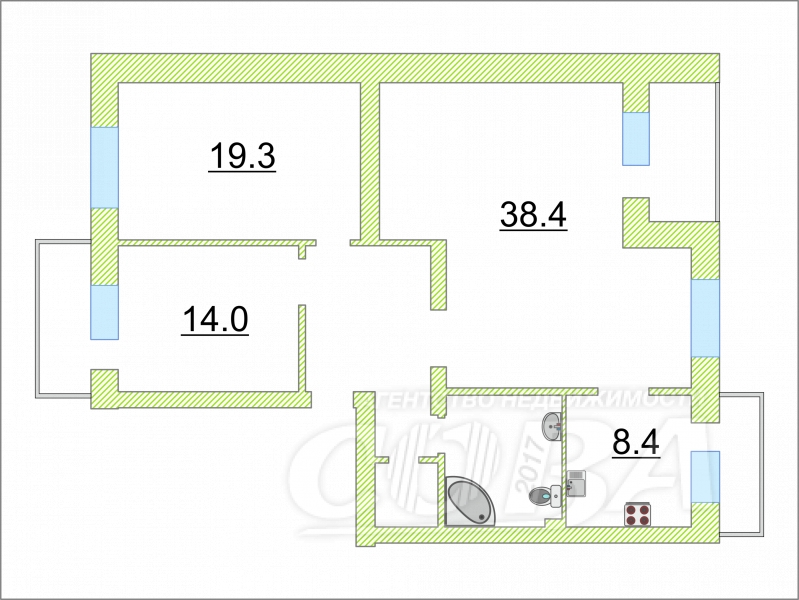 4 комнатная квартира  в районе ул.Малыгина, ул. Салтыкова-Щедрина, 36, г. Тюмень