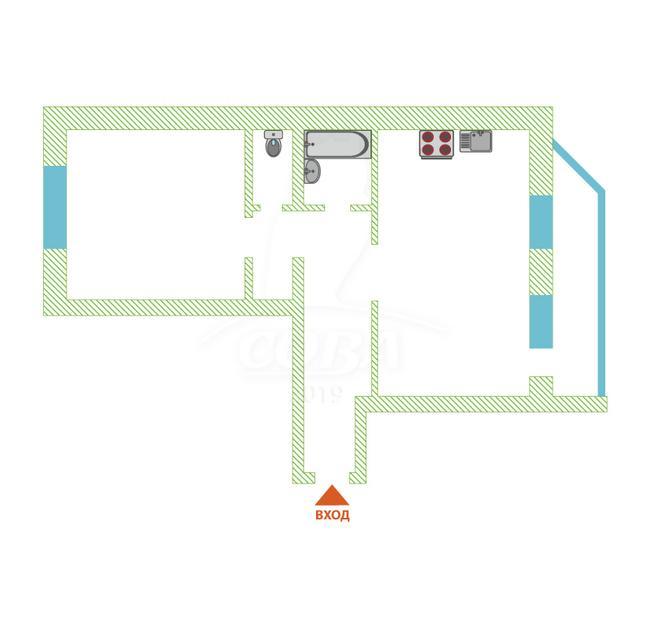 2 комнатная квартира  в районе Стрела, ул. Карла Маркса, 8, г. Тюмень