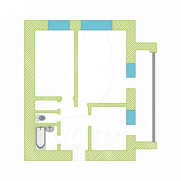 2 комнатная квартира  в 2 микрорайоне, ул. 30 лет победы, 98, г. Тюмень