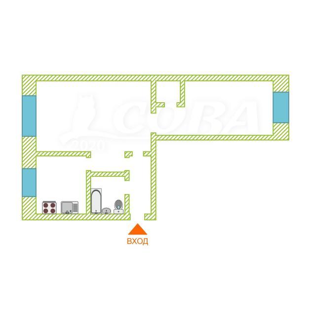 2 комнатная квартира  в районе КПД (Геологоразведчиков), ул. Тульская, 2А, г. Тюмень
