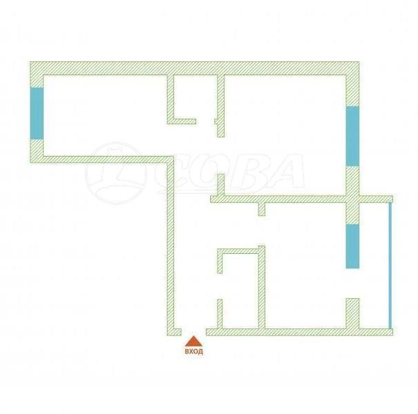 2 комнатная квартира  в районе Нагорный Тобольск, ул. 4-й микрорайон, 37/2, г. Тобольск