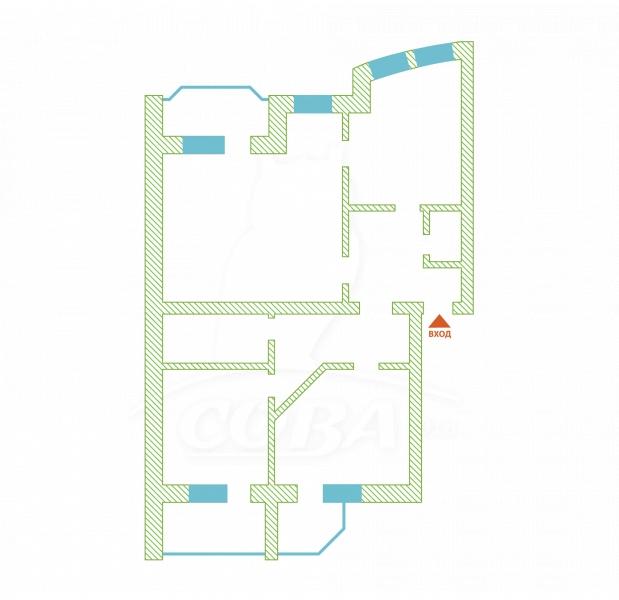 3 комнатная квартира  в районе Московского тр., ул. Московский тракт, 88, г. Тюмень