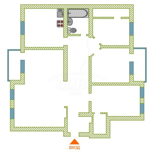 4 комнатная квартира  в историческом центре, ул. Челюскинцев, 29, г. Тюмень