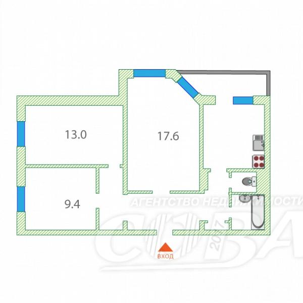 3 комнатная квартира  в районе Энергетиков, ул. Гагарина, 8, г. Сургут
