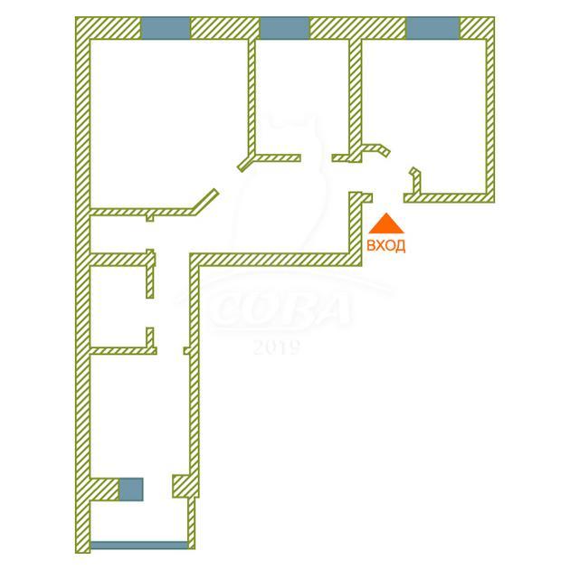 3 комнатная квартира  в Заречном 2 мкрн., ул. Солнечный проезд, 7, г. Тюмень