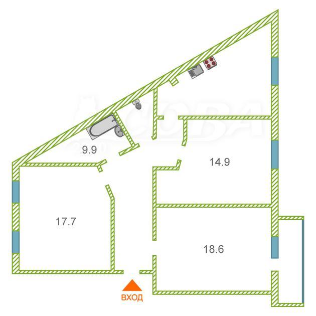 4 комнатная квартира  в 2 микрорайоне, ул. Олимпийская, 47А, г. Тюмень