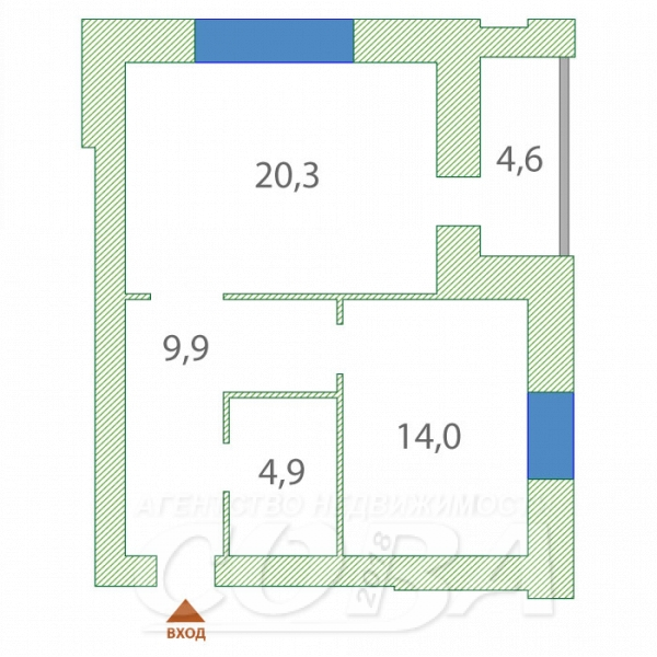 1 комнатная квартира  в Тюменском мкрн., ул. Евгения Богдановича, 8, г. Тюмень