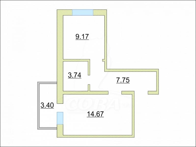 1 комнатная квартира  в районе ММС, ул. Голышева, 4, Жилой дом «Fresh», г. Тюмень