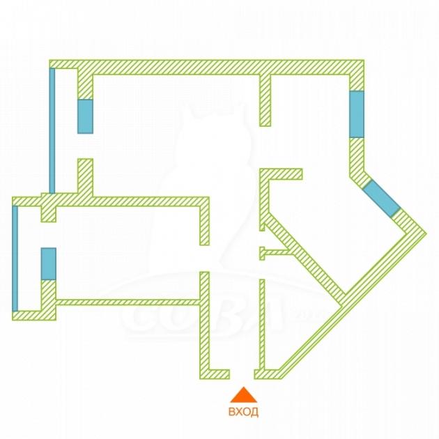 2 комнатная квартира  в районе Нагорный Тобольск, ул. 9-й микрорайон, 34Б, г. Тобольск