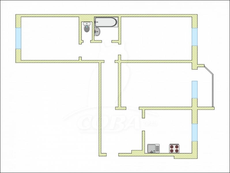 3 комнатная квартира  в Восточном мкрн., ул. Народная, 4, г. Тюмень