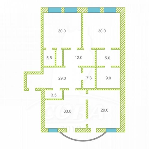 4 комнатная квартира  в центре Тюмени, ул. Герцена, 60, г. Тюмень