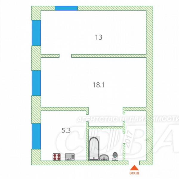 2 комнатная квартира  в районе КПД (Геологоразведчиков), ул. проезд Геологоразведчиков, 42, г. Тюмень