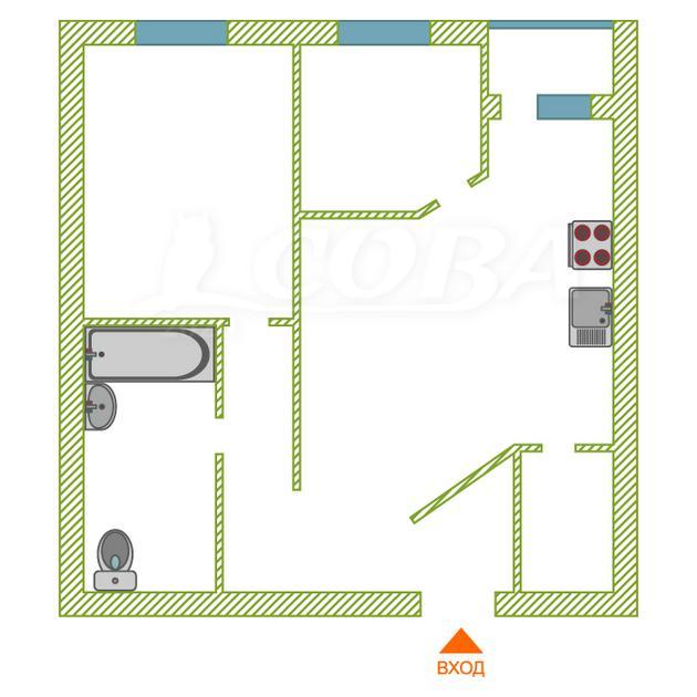 3 комнатная квартира  в районе Университет, ул. Сибирская, 15, г. Сургут