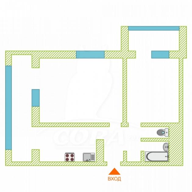 2 комнатная квартира  в районе Бытха, ул. Ясногорская, 6, г. Сочи