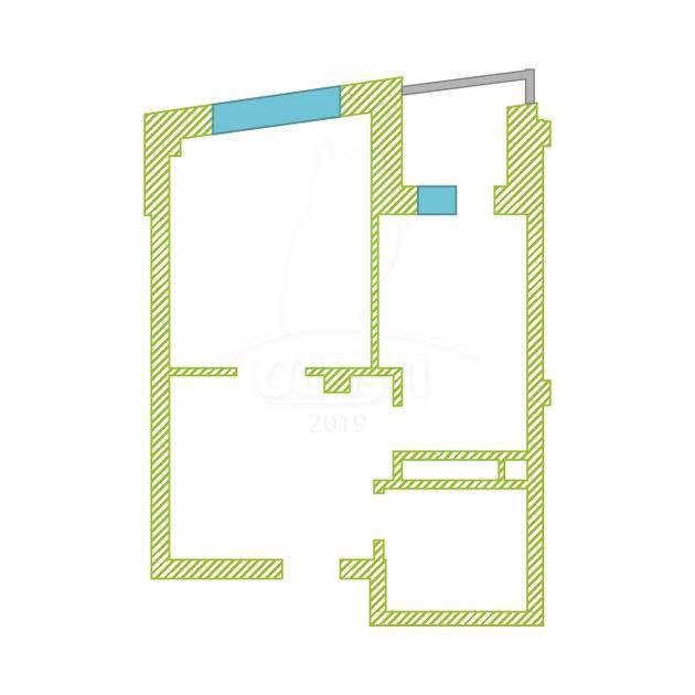 1 комнатная квартира  в Восточном 2 мкрн., ул. Широтная, 189/1, ЖК «Янтарный», г. Тюмень