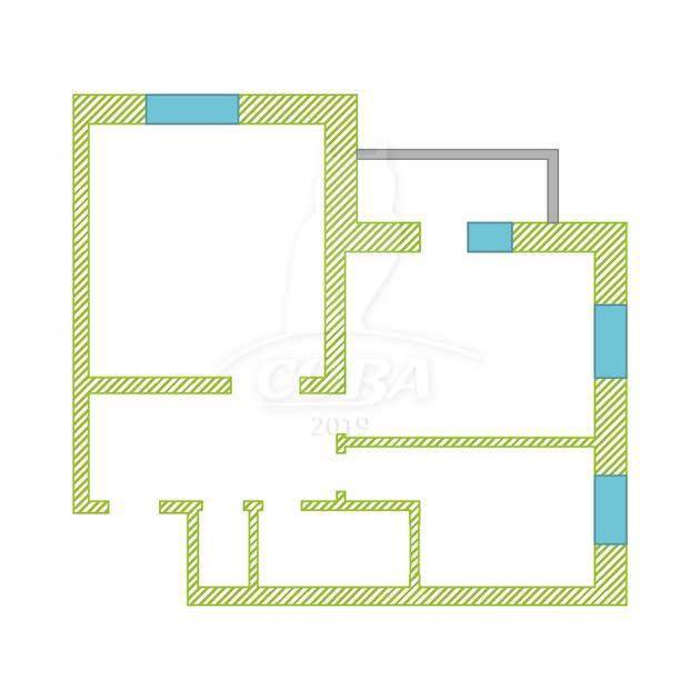 2 комнатная квартира  в районе Метелево, ул. Метелевская, 2, г. Тюмень