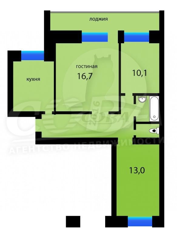 3 комнатная квартира  в районе Югра, ул. Щербакова, 142, г. Тюмень