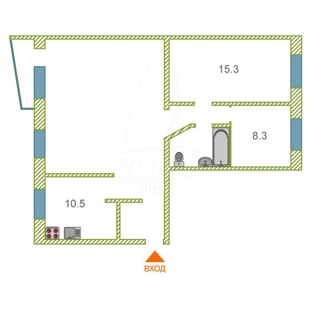 4 комнатная квартира  в районе Центральный, ул. Мира Проспект, 4, г. Сургут