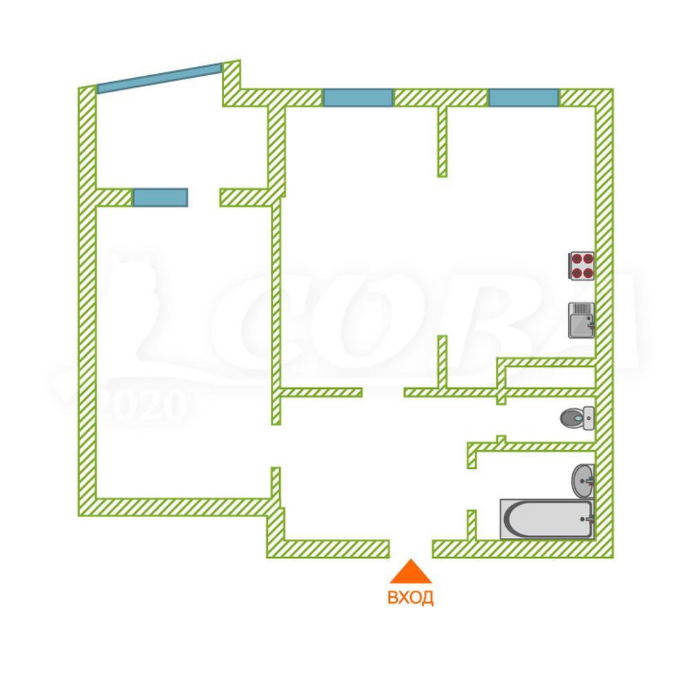 2 комнатная квартира  в районе Александрия, ул. Крылова, 38, Жилой дом