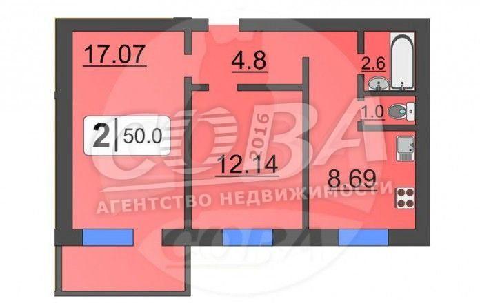 2 комнатная квартира  в районе Плеханово, ул. Кремлевская, 102/1, ЖК «Первый Плехановский», г. Тюмень