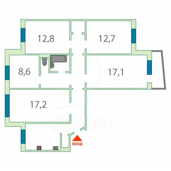 4 комнатная квартира  в 6 микрорайоне, ул. Мельникайте, 129, г. Тюмень