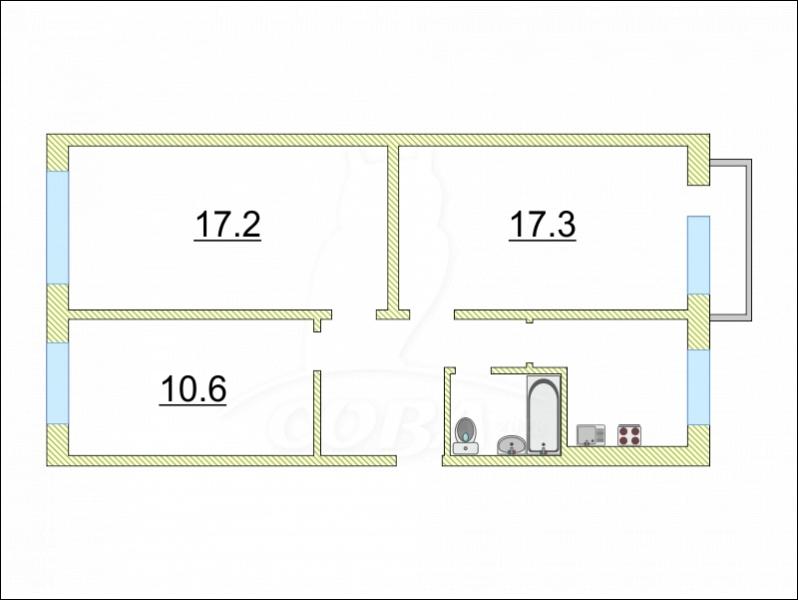 3 комнатная квартира  в районе Энергетиков, ул. Республики, 76, г. Сургут