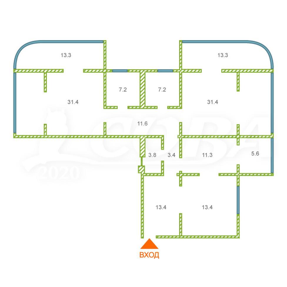 4 комнатная квартира  в районе Яна Фабрициуса, ул. Яна Фабрициуса, 2/9А, г. Сочи