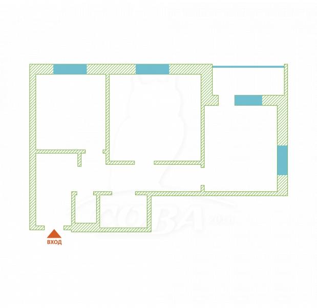 2 комнатная квартира  в Тюменском-4 мкрн., ул. Николая Зелинского, 3, Жилой квартал «на Федорова», г. Тюмень
