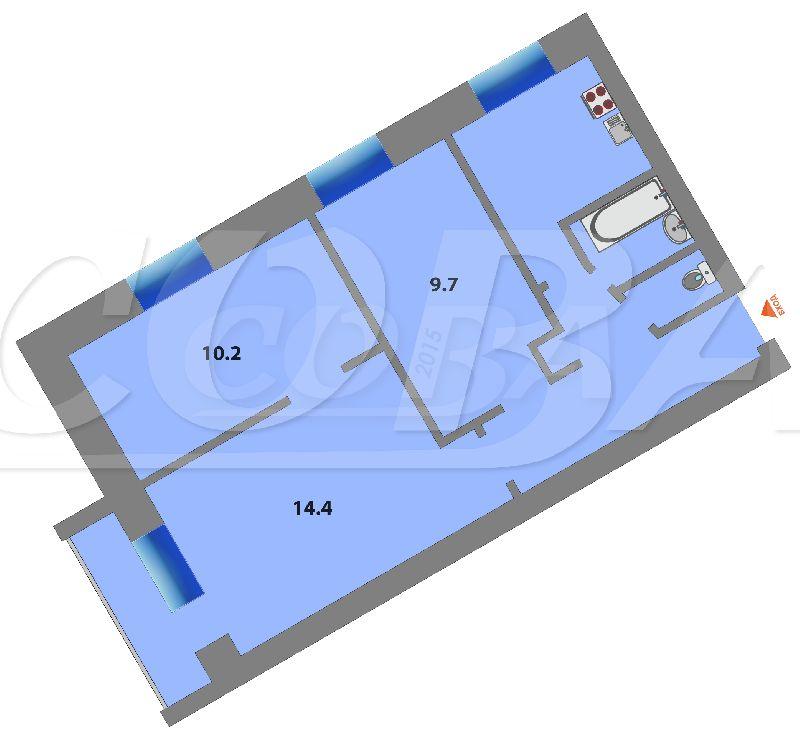 3 комнатная квартира  в центре Тюмени, ул. Дзержинского, 23, г. Тюмень