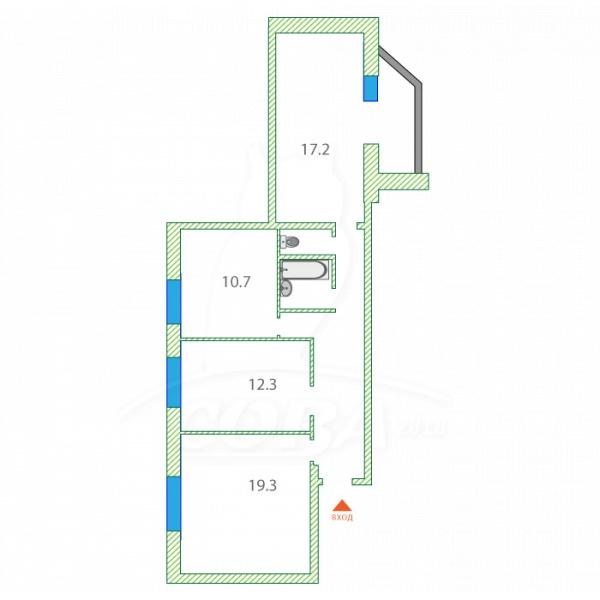 3 комнатная квартира  в Тюменском-2 мкрн., ул. Михаила Сперанского, 29, ЖК «Ямальский-1», г. Тюмень