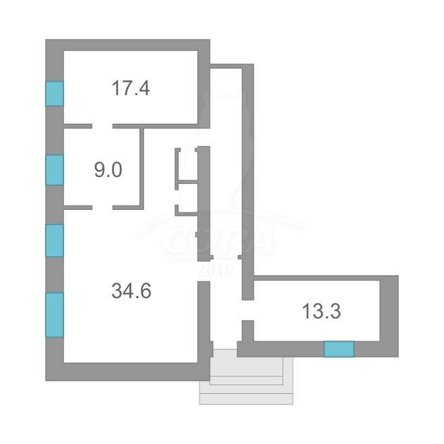 Нежилое помещение в жилом доме, продажа, в районе Электрон, г. Тюмень