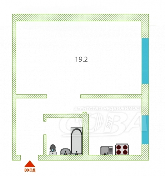 1 комнатная квартира  в районе Драмтеатра, ул. Холодильная, г. Тюмень